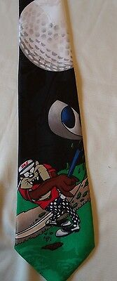 TAZ Golf Vintage1996 Looney Tunes Mania Neck Tie