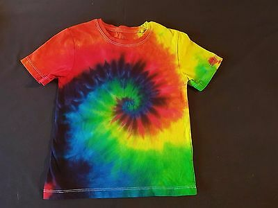 Unisex Kids Size 5 Tie-Dye Rainbow Revolution Spiral, T-Shirt,  Cotton, Unique