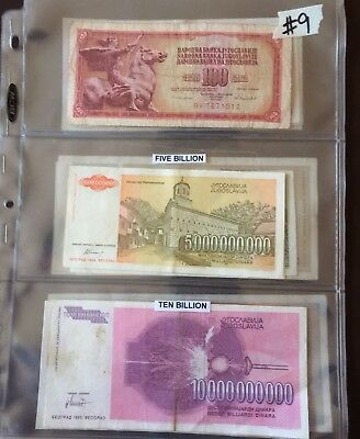 Collection Of Yugoslavian Currency
