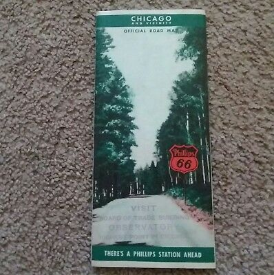 1939 Phillips Petroleum Company Road Map (Chicago)