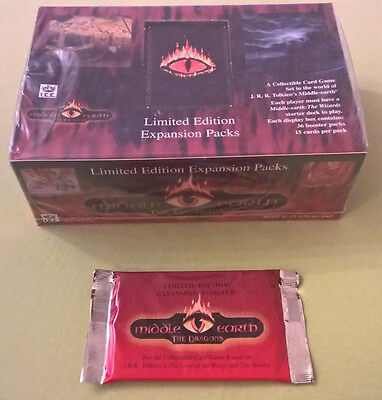 TCG Middle Earth The  Dragons Limited Edition Expansion Packs - Display OVP/mint