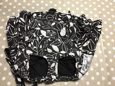 Balboa Baby Shopping Cart and High Chair Cover, Black and White Leaf