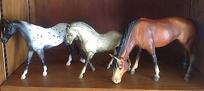 3 Breyer Horses ~Semi-Leopard Appaloosa~ Andalusion Mare ~Chalky Grazing Mare
