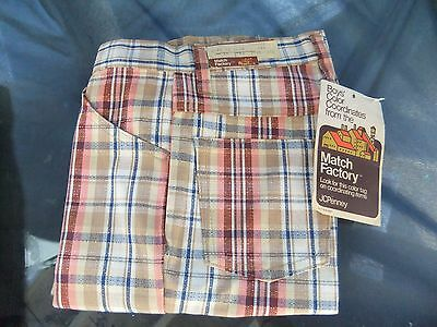 Vintage Retro 70's Match Factory Jcpenny's New old Stock Pants Size 12 Slim Boys