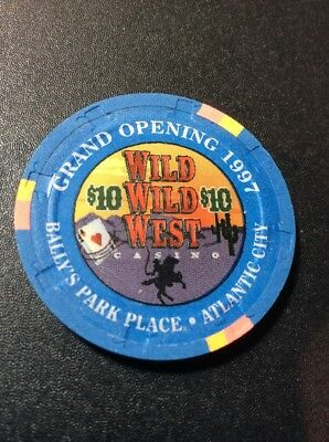 Bally's Park Place $10 Casino Chip- Wild Wild West- Mint Condition
