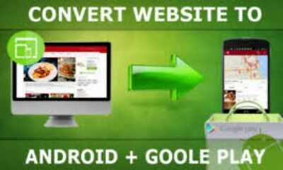 Convert Your website  Into An Android Mobile App +Publish it for you. Play store