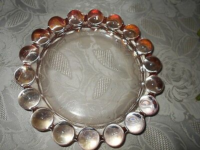 """Vintage Pink Ball Glass 7"""" BY 1-1/2"""" Ashtray"""