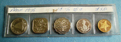 Bahama Islands 1975 5-Coin Proof Set One Cent- 25 Cent Beautiful Coins **look**