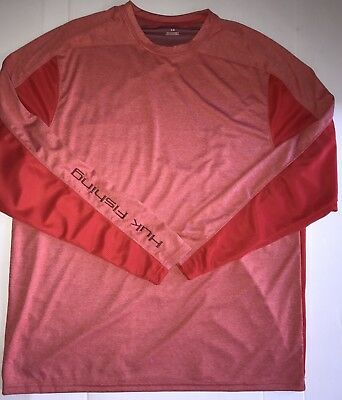 Huk Men's Ice Red Long Sleeve Fishing Shirt Size Large Msrp $59.99