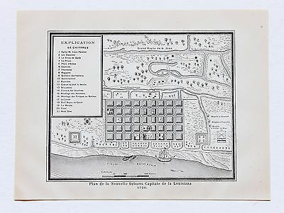 1884 New Orleans Louisiana Map Garden District Algiers French Quarter 1728