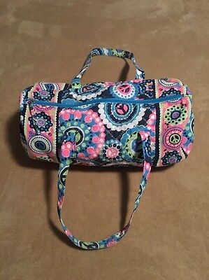 """Justice Bright Floral / Peace Duffle Bag, 16"""" x 9"""" x 9"""""""