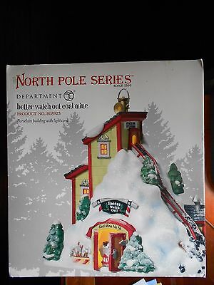 DEPT 56 NORTH POLE VILLAGE BETTER WATCH OUT COAL MINE *Excellent Store Display*