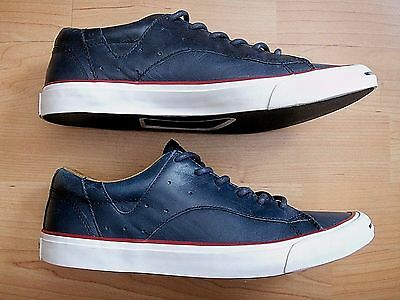 Xlnt Converse Jack Purcell Racearound Blue Leather Low Ox Shoes Men 6.5 Women 8