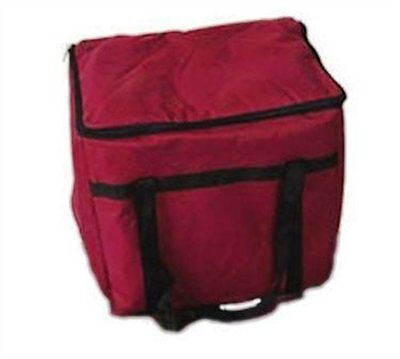 Winco BGDV-22 Pizza Delivery Bag, 22-Inch by 22-Inch by 13-Inch Red Bag - NEW