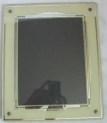vintage art deco glass frame