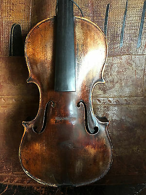 Antique Violin, For Repair Labeled Grafted Scroll