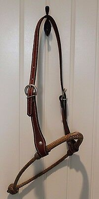 Vintage Braided Leather Hackamore Bosal - Excellent Condition