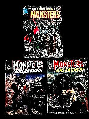 MONSTERS UNLEASHED! No. 2, No. 3 & The Legion of Monsters No. 1. SET OF 3!!!