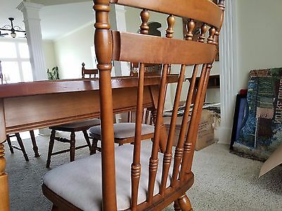 TELL CITY Dining room table & chair set --RARE!