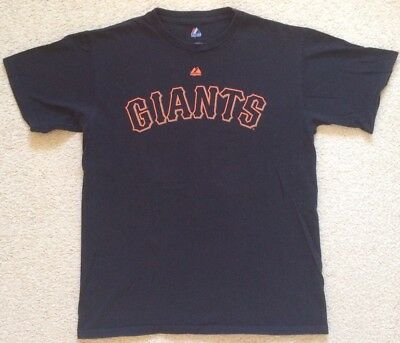 San Fransisco Giants #15 Carlos Beltran Baseball T Shirt Mens Size M Majestic