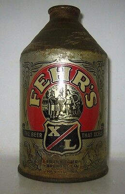 "Old FEHR'S ""SILVER BUMPER"" CONE TOP CROWNTAINER BEER CAN Louisville, Kentucky"