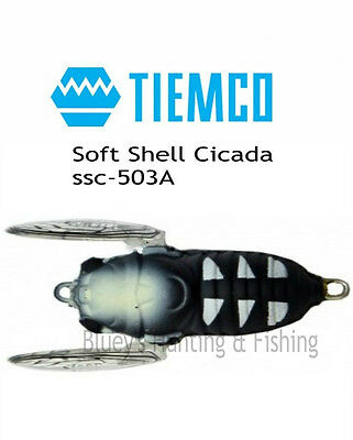 Tiemco Soft Shell Cicada 40mm 4g Bass, trout,cod topwater, surface lure col;503A