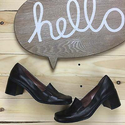 Nine West Womens Size 7.5 M Upper Leather Heels Brown Oxfords Shoes
