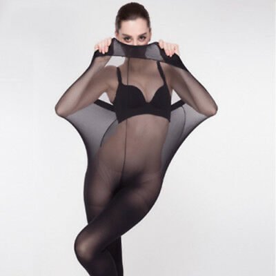 Plus Size Ultra Elastic Tights Stockings Women Shaping Pantyhose Socks 30D AU