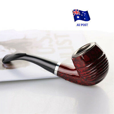 Durable Wooden Enchase Smoking Pipe Tobacco Cigarettes Filter Pipes Gift New EA