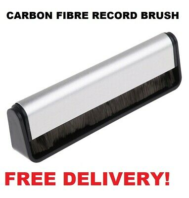 Anti-static Vinyl Record LP Carbon Fibre (Fiber) Record Cleaner Cleaning Brush F