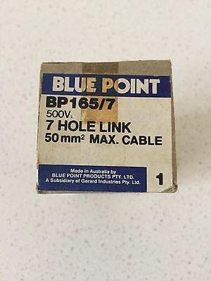 NEW IN BOX Blue Point by Clipsal 7 Hole link Black BP165/7