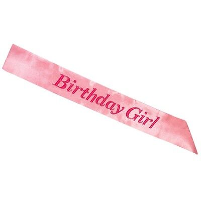 BIRTHDAY GIRL Sash in PINK - Sashes Accessory Party Decoration Girls Night