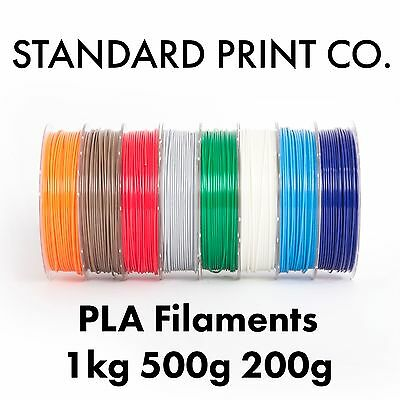 3D Printer Filament PLA 1.75mm 1KG 500g 200g Australian Stock Standard Print Co.