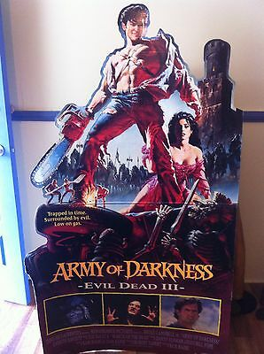 Evil Dead Army Of Darkness Origional Video Shop Cardbard Display Horror  Poster