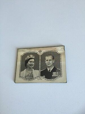 Small Royal Mirror with Queen Elizabeth & Prince Phillip.  Pick up Vic available