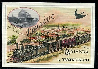 TESSENDERLOO --.... train   souvenir creation moderne serie numerotee