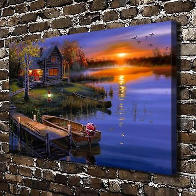 """Autumn scenery Paintings HD Canvas Print 24""""x36"""" Home Decor Wall Art Pictures"""
