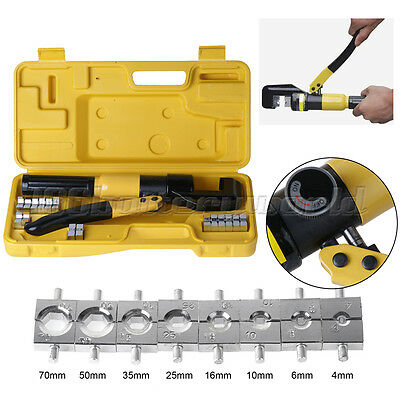 Tube Terminals Lugs Battery Cable Wire Crimping Force Hydraulic Crimper Tool Kit