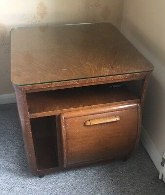 Incorporall mid century modern record cocktail cabinet table vintage