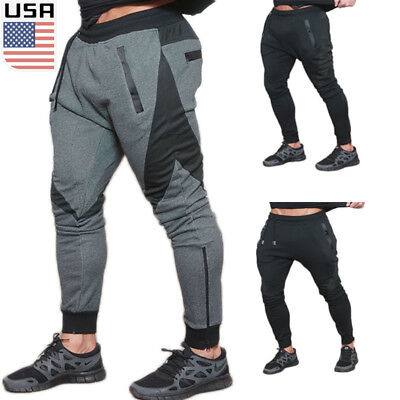 Men's Plain Jogger Sportwear Baggy Casual Harem Pants  Trousers Sweatpants US