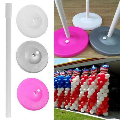 Balloon Column Base w/ Stand Pole Pipe Upright Arch Display Kit Wedding Decor