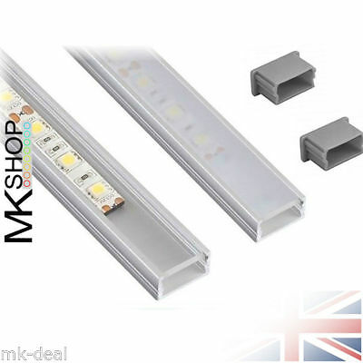 Aluminium LED LineMini Profile 5050 5630 3528 Strip Lights White Black Xmas