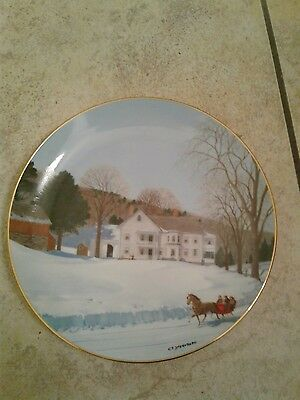 An Old Time Country Winter Chittendon's Place Collector Plate C Sternberg