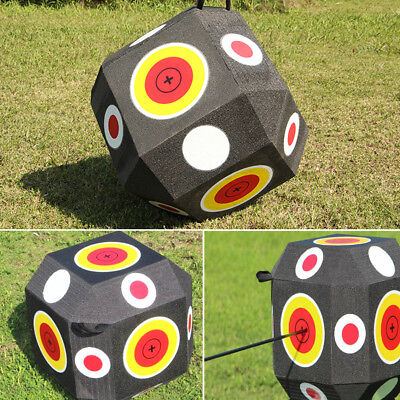 3D Block Foam Color Cube Archery Targets Portable 18-Sided Outdoor Hunting FPS