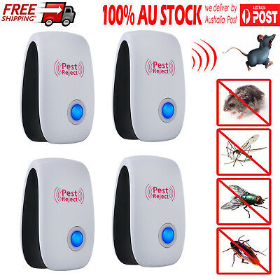 4PC Electronic Ultrasonic anti Pest Bug Mosquito Cockroach Mouse Killer Repeller