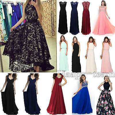 Women's Formal Long Prom Evening Party Bridesmaid Wedding Ball Gown Formal Dress