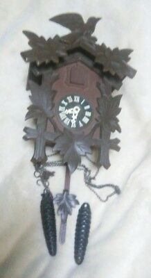 """Vintage West Germany Black Forest 16"""" Bird Cuckoo Coo Coo Clock"""