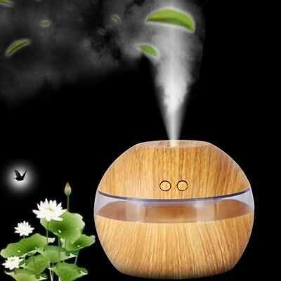 AU Ultrasonic LED Humidifier Purifier USB Aromatherapy Essential Oil Diffuser