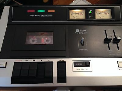 vintage sharp rt-2500h cassette deck player 1980 excellent condition see pics