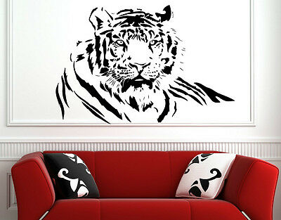 Bengal Tiger Wall Sticker Wall Decoration Mural Decal Decor Genuine Broomsticker